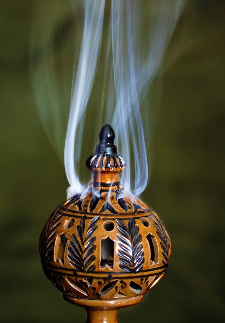 lamp with smoke